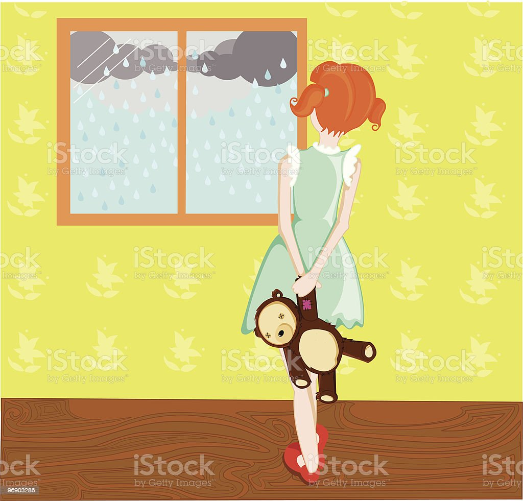 can't go outside to play royalty-free cant go outside to play stock vector art & more images of back