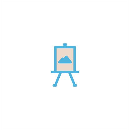 canvas painting icon flat vector logo design trendy