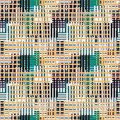 Canvas seamless pattern