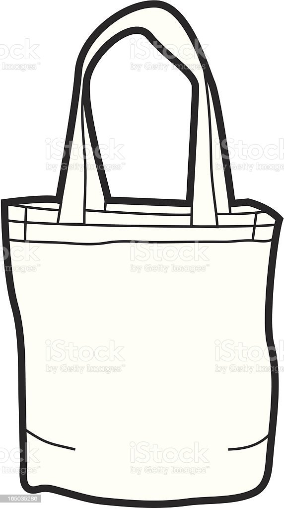 Canvas Tote Bag royalty-free canvas tote bag stock vector art & more images of bag