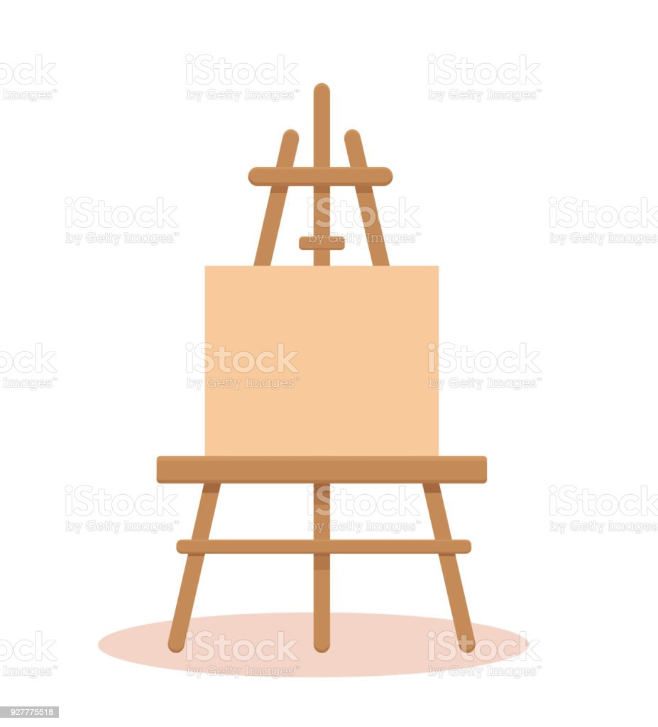 Canvas With Easel Vector Illustration Stock Vector Art & More Images ...