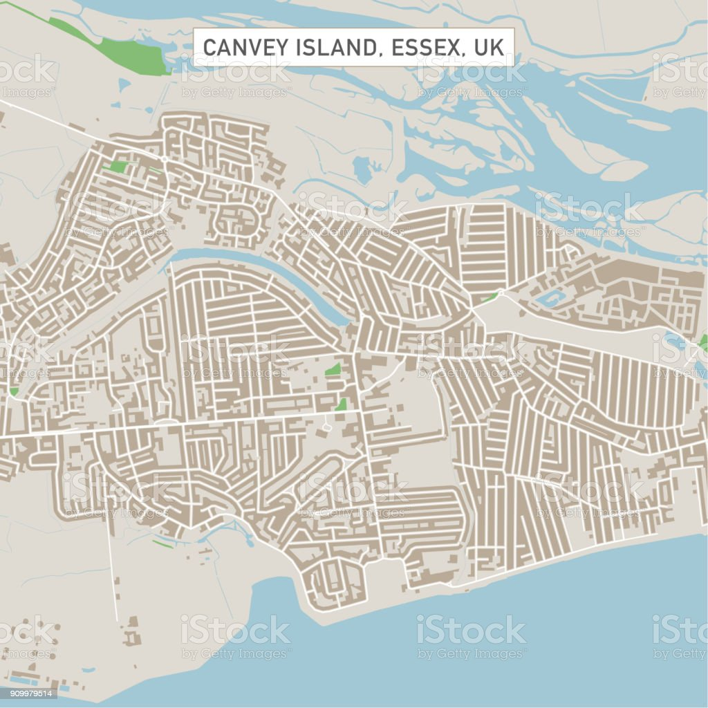 City Map Of Uk.Canvey Island Essex Uk City Street Map Stock Vector Art More