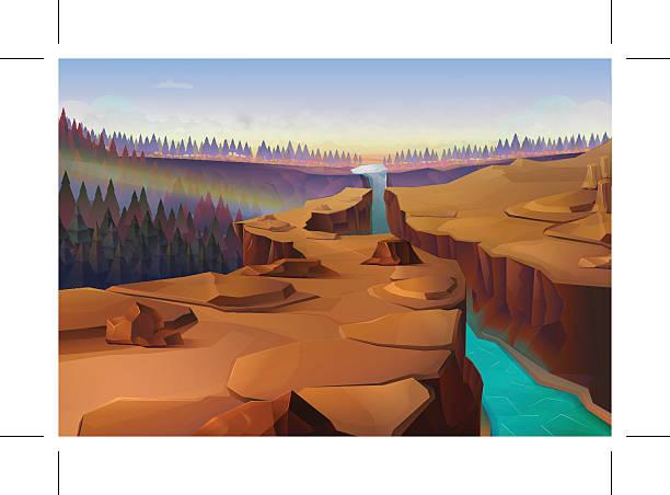 canyon-hintergrund - nationalpark stock-grafiken, -clipart, -cartoons und -symbole