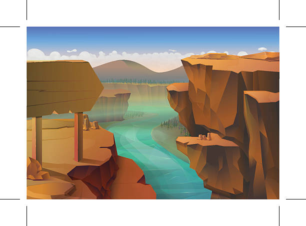 Canyon nature background Canyon, nature vector background cliff stock illustrations