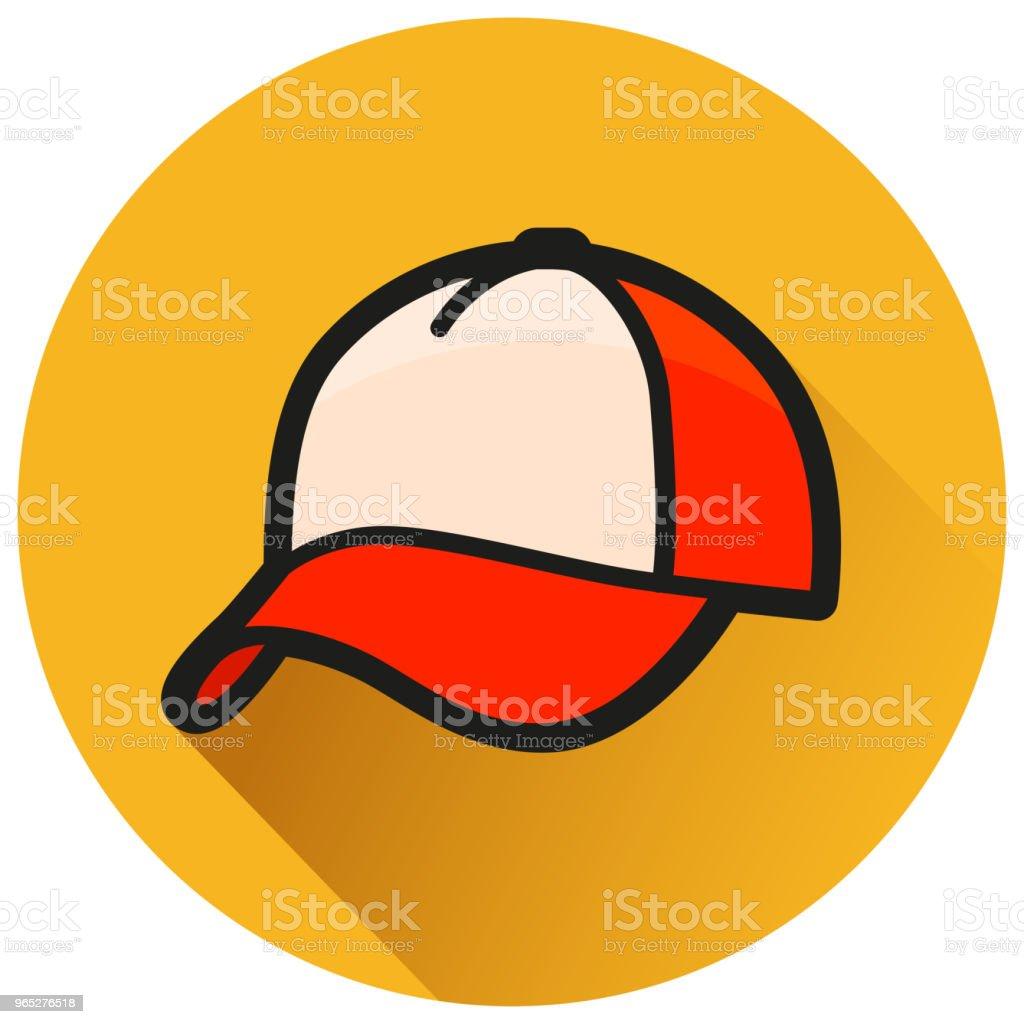 cap circle orange flat icon cap circle orange flat icon - stockowe grafiki wektorowe i więcej obrazów baseball royalty-free