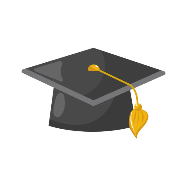 cap graduation object design vector art illustration