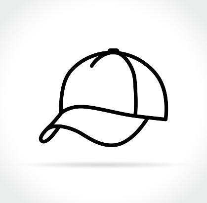 cap icon on white background