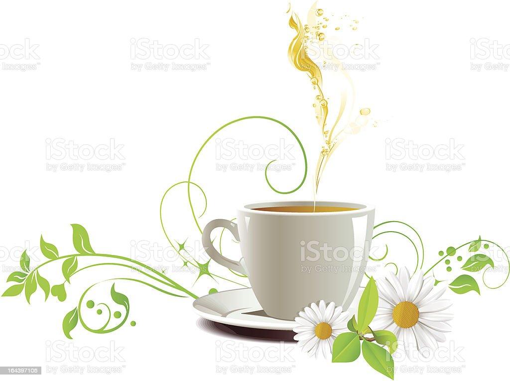 Cap of tea. royalty-free cap of tea stock vector art & more images of breakfast