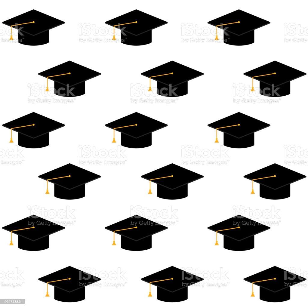 Ilustración de Gorra O Sombrero Para Ceremonia Universidad ...
