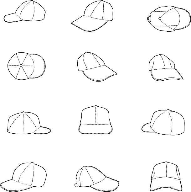 Cap silhouette vector art illustration