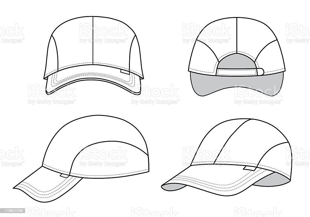 Cap template royalty-free cap template stock vector art & more images of baseball cap
