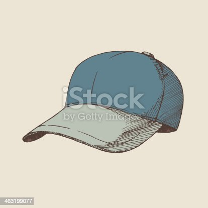 Vector illustration of baseball cap. EPS8, AI10, high res jpeg included.