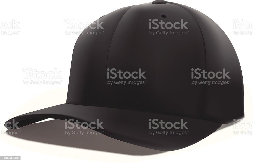 Royalty Free Silhouette Of A Baseball Hat Design Template Clip Art