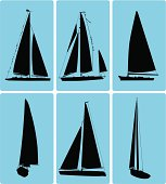 Cape Cod Sailboat Icons ( Vector )