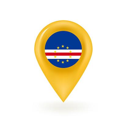 Cape Verde Flag Map Pin