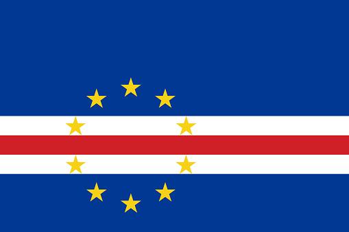Cape Verde flag. Official colors. Correct proportion