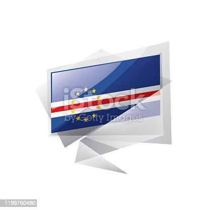 istock Cape Verde flag, vector illustration on a white background 1199790480