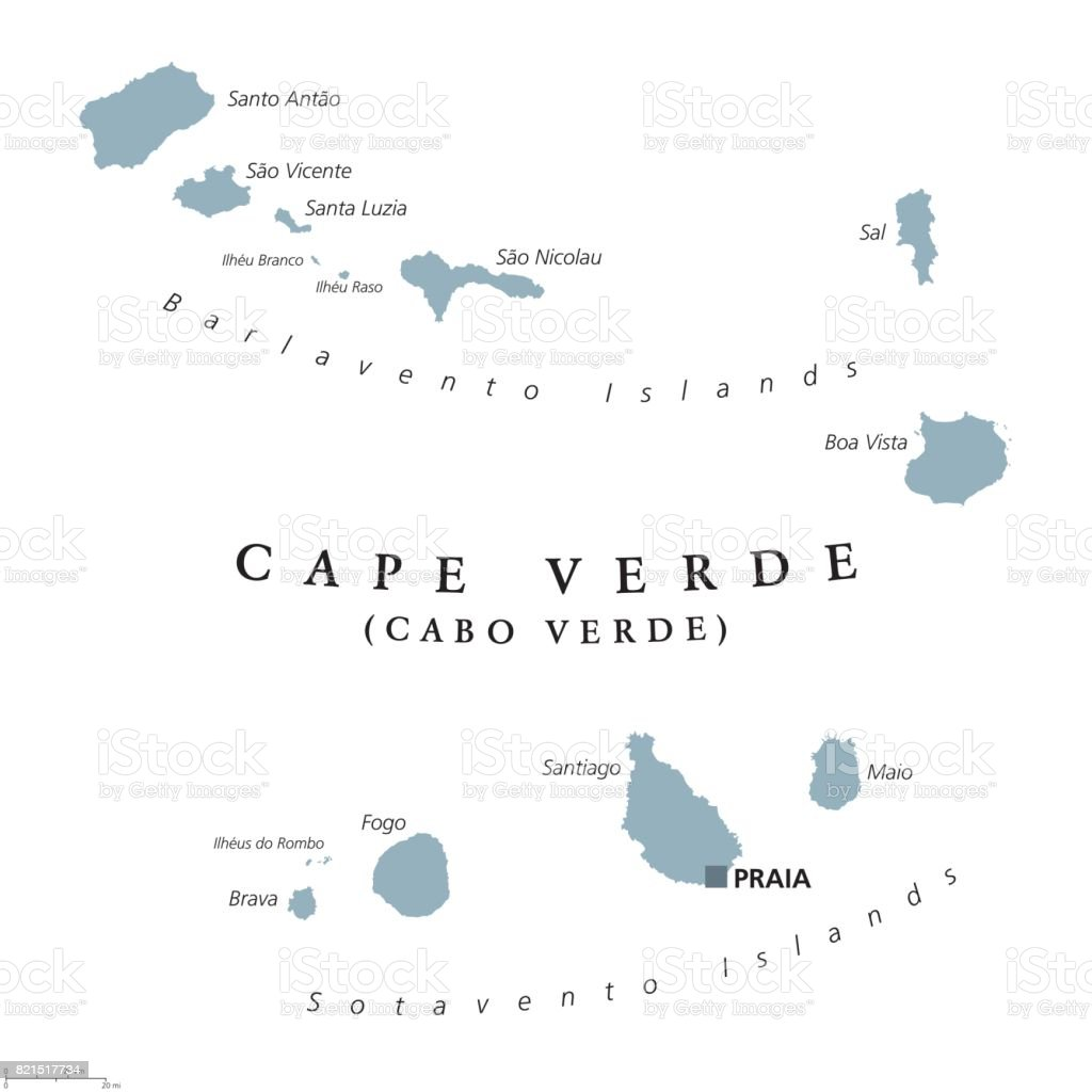 Where Is Cape Verde Located On The World Map.Cape Verde Political Map Stock Vector Art More Images Of Africa
