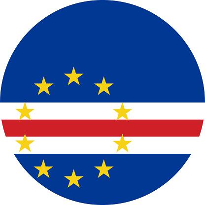 Cape verde round flag icon.