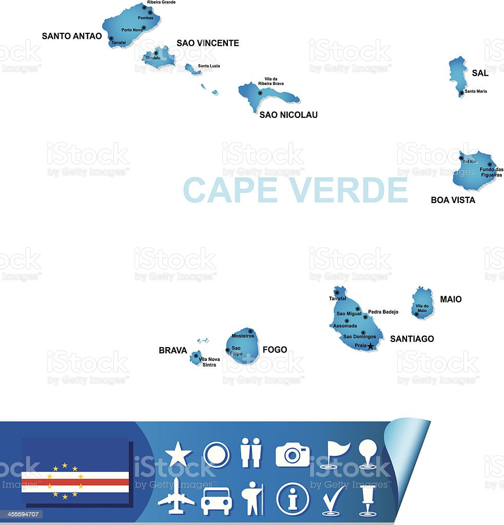 cape verde vector map royalty-free cape verde vector map stock vector art & more images of africa