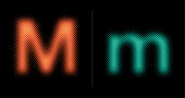 Capital and lower case letter M (Neon half tone set)