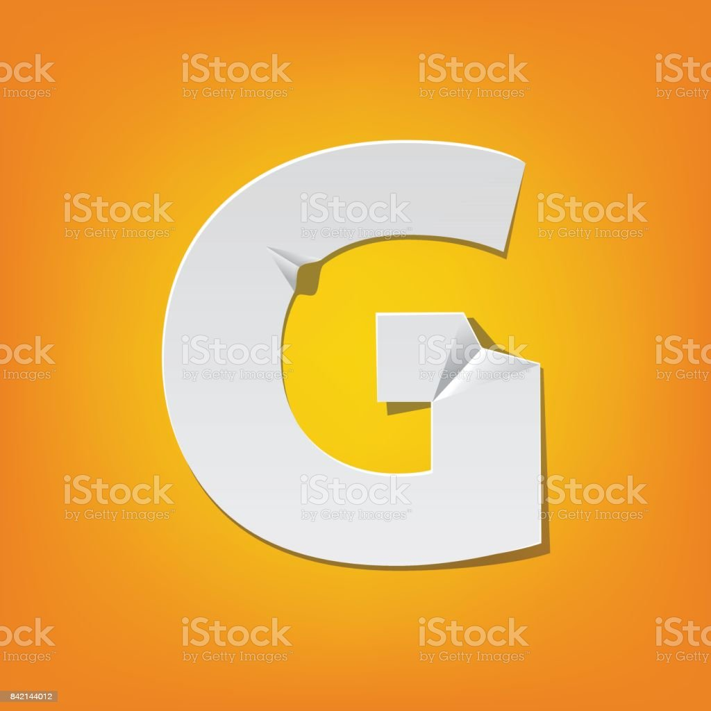 G Capital Letter Fold English Alphabet New Design Stock Vector Art