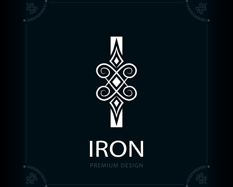 Capital Letter I Magic Style Modern Logo Creative Insignia ...