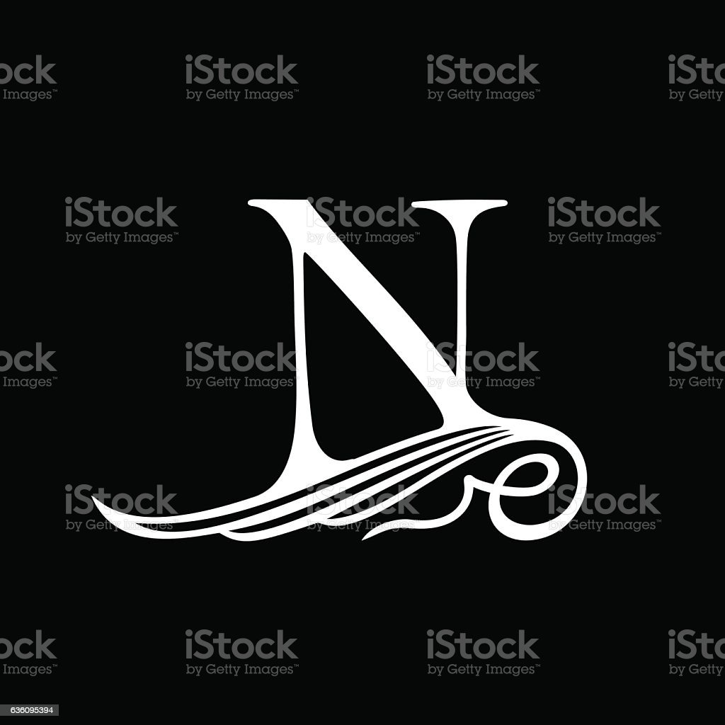 Capital Letter N For Monograms Emblems And Logos Beautiful Filigree