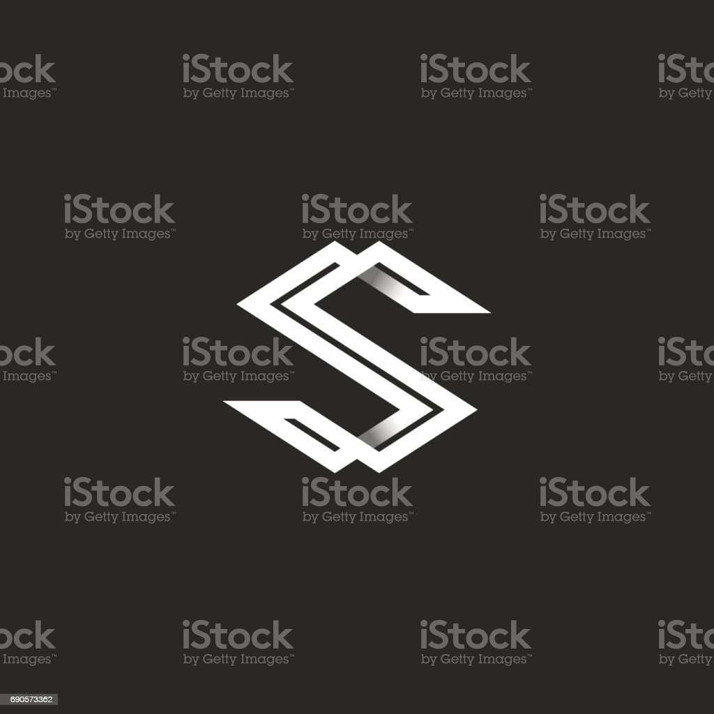 Capital letter s icon monogram intersection white angular lines capital letter s icon monogram intersection white angular lines overlapping strips shape ss initials magicingreecefo Gallery