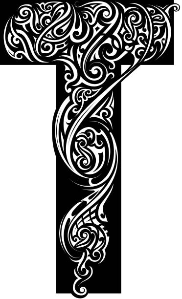 Silhouette Of A Letter T Tattoo Designs Clip Art Vector Images Illustrations
