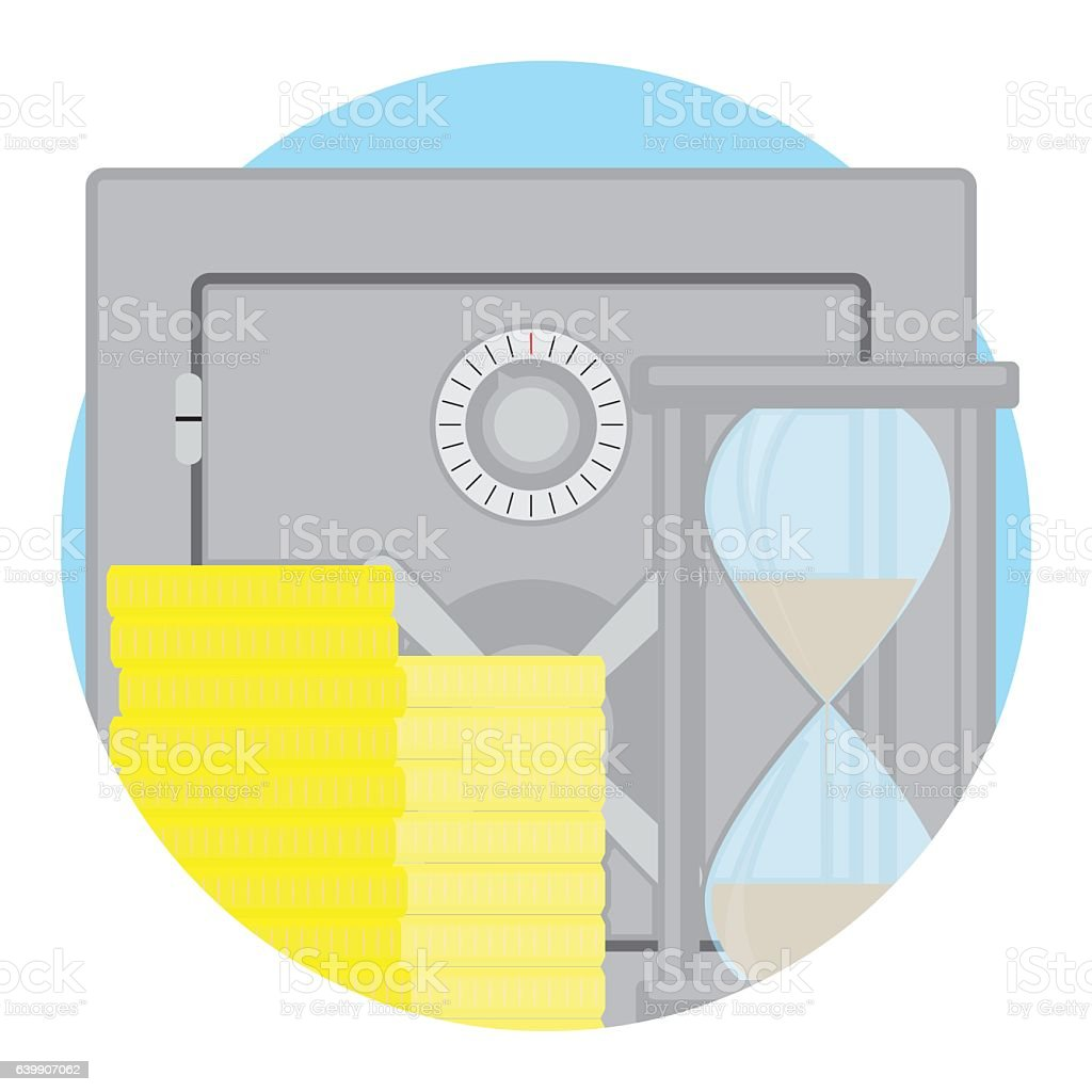 Capitalization of deposit icon flat vector vector art illustration