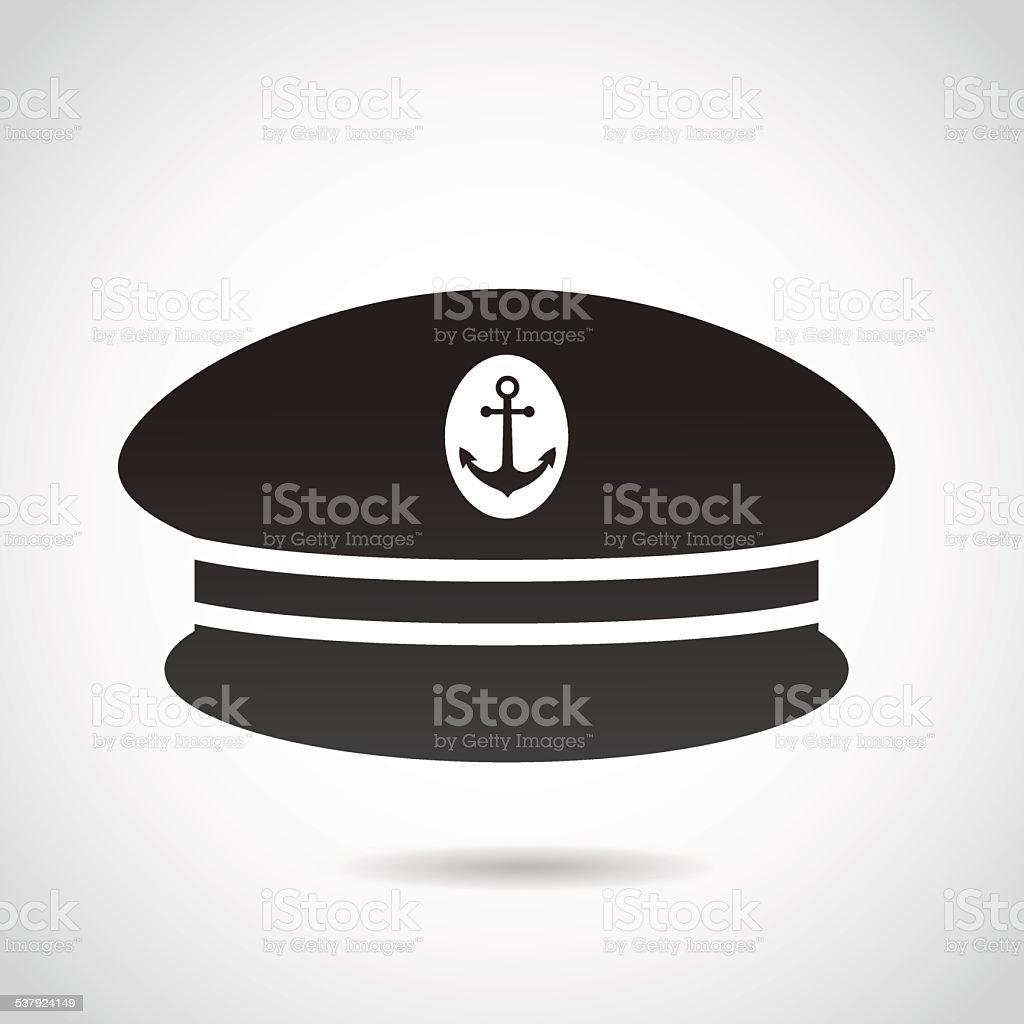 Capitan's hat icon. vector art illustration