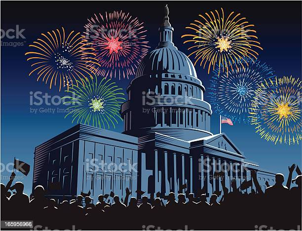 Capitol building at night with fireworks vector id165956966?b=1&k=6&m=165956966&s=612x612&h=my9cl4z15bytdwzzrlzgoav4hfia9jscboyrjihgl8s=