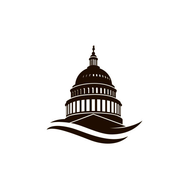 capitol building icon United States Capitol building icon in Washington DC capitol hill stock illustrations