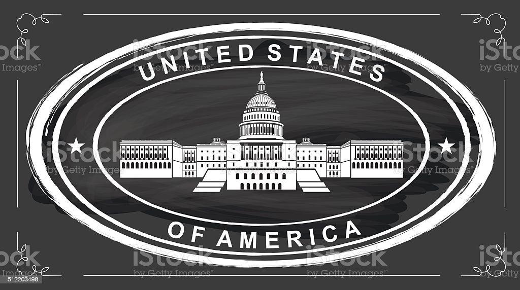 Kapitol der Vereinigten Staaten – Vektorgrafik