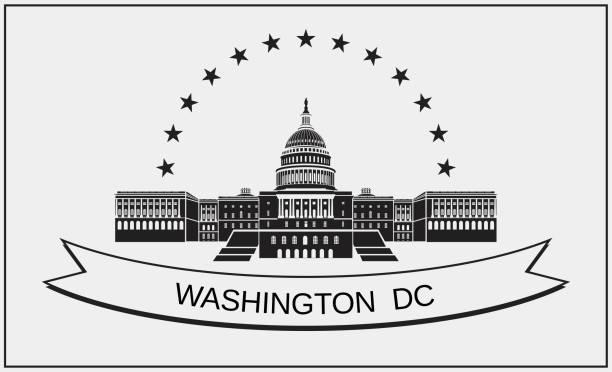 Capitol Building. Symbol der amerikanischen Architektur. – Vektorgrafik
