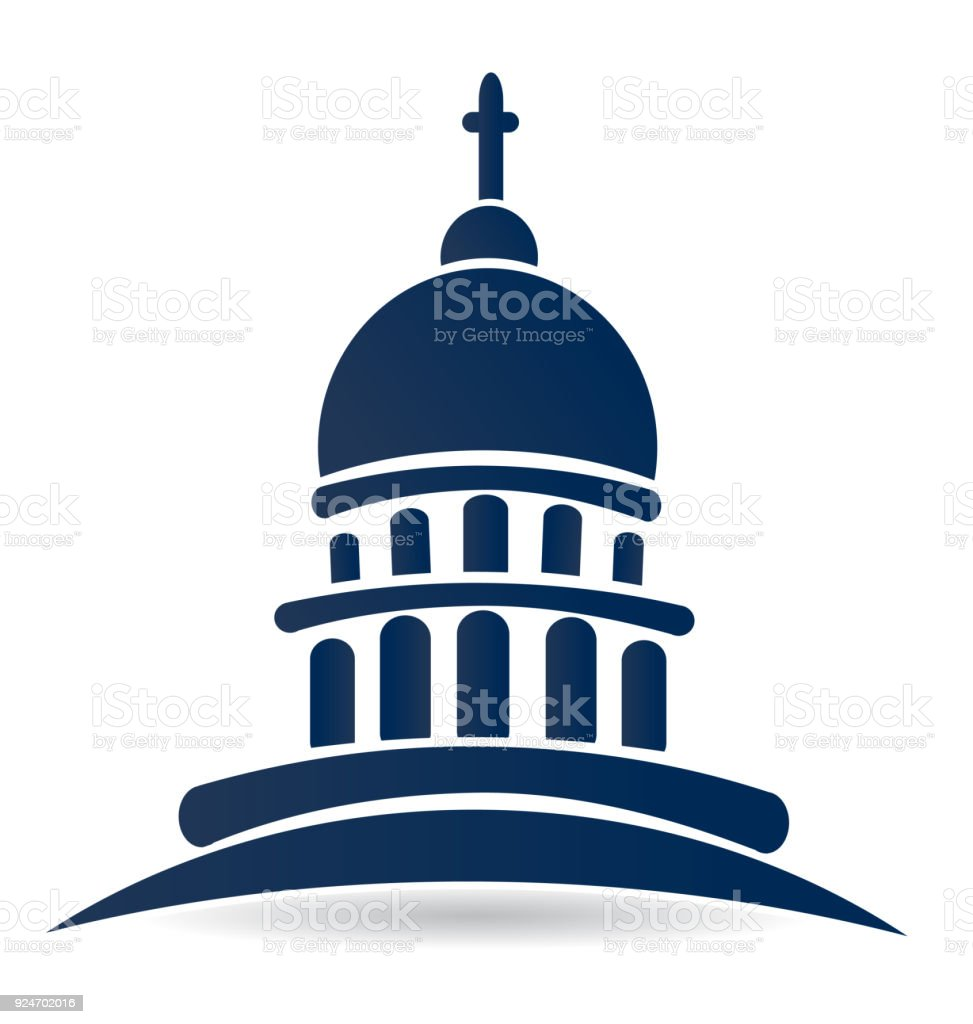 capitol building temple icon vector design stock vector art more rh istockphoto com building flat design vector building logo vector design
