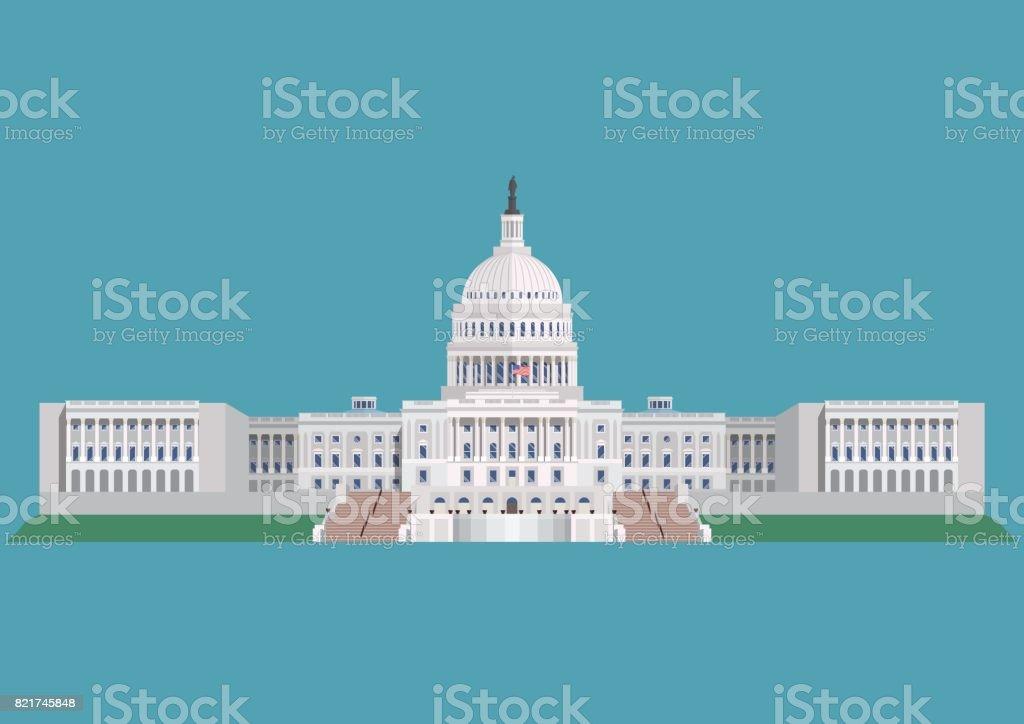 Kapitol der Vereinigten Staaten von Amerika – Vektorgrafik
