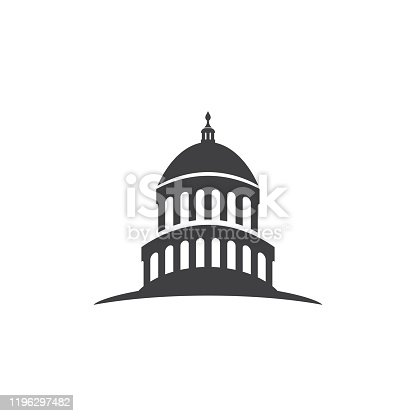Capitol building usa icon design template vector