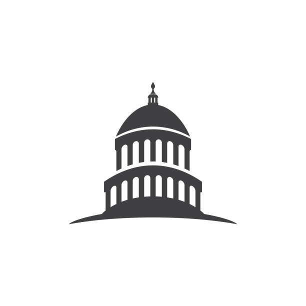 Capitol building usa icon design template vector Capitol building usa icon design template vector capital cities stock illustrations