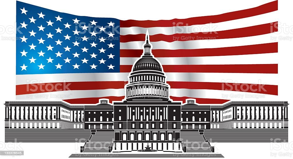 Capitol Building royalty-free capitol building stock vector art & more images of american flag