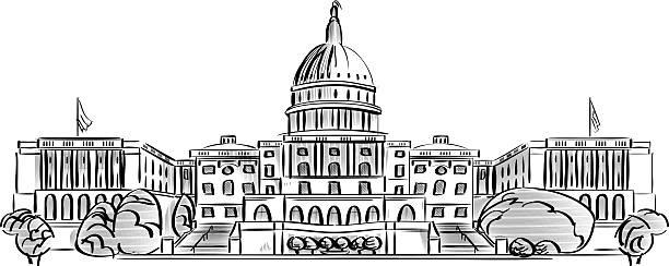 us-kapitol  - abgeordnetenhaus stock-grafiken, -clipart, -cartoons und -symbole