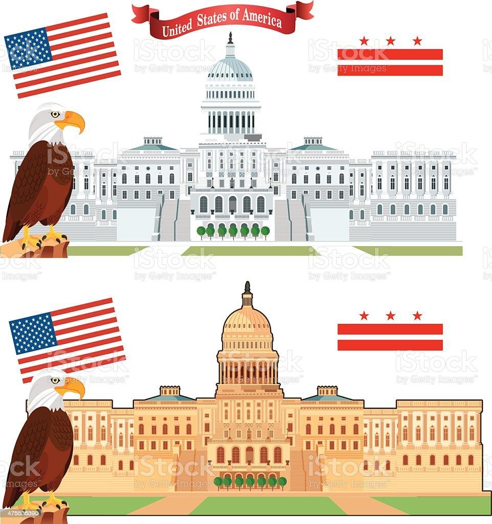 米国議会議事堂ワシントン dc のイラスト素材 475536390 | istock