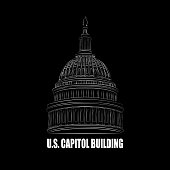 Vector Illustration : U.S. Capitol