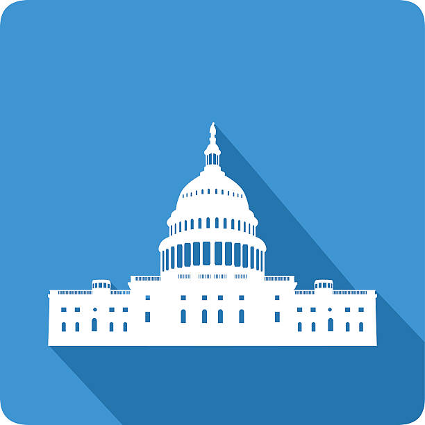 Capitol, vector illustration Capitol, vector illustration white house stock illustrations