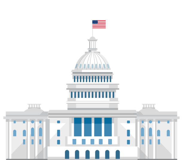 capitol. washington DC. white house capitol. washington DC. white house white house stock illustrations