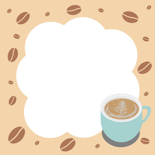 Cappuccino Coffee background for text. vector art illustration