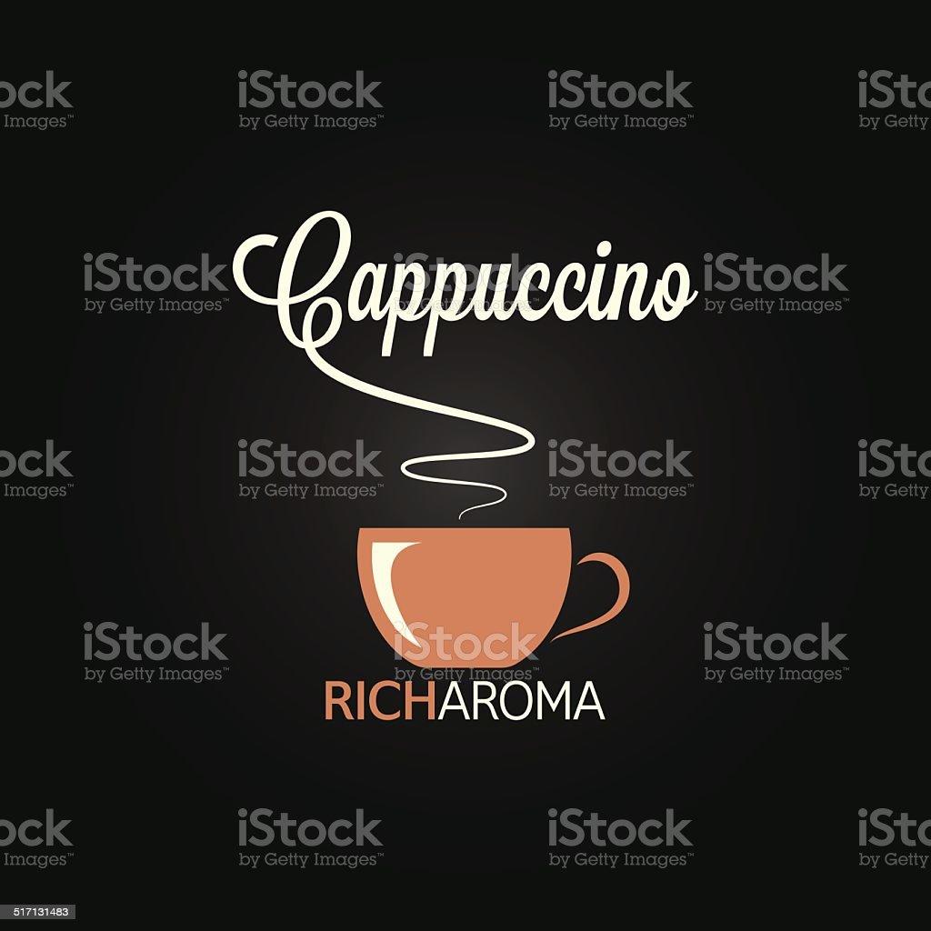 cappuccino cup menu design background vector art illustration