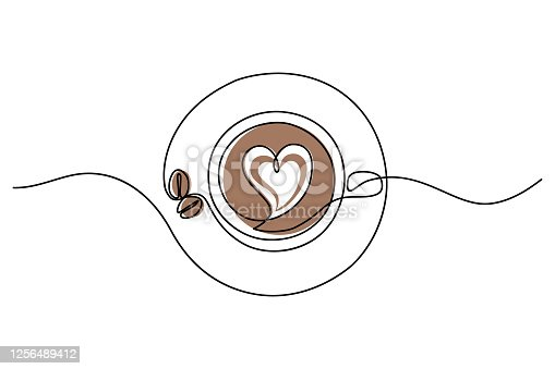 istock Cappuccino cup 1256489412