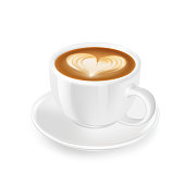 istock Cappuccino with froth, decorated with heart of milk 1266930174